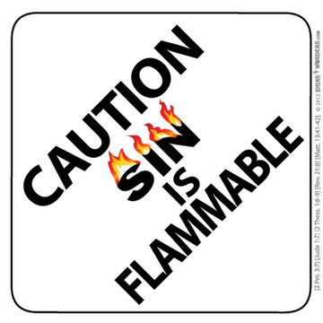 Sin is Flammable Window Winshield Suction Cup